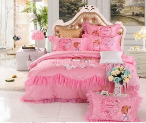 Lacey Pink Bedding Set