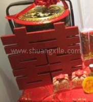 Red Wooden Double Happiness (Rental Fees: S$35)