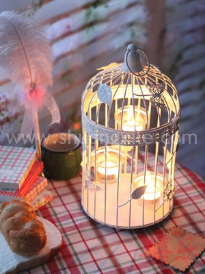 Butterfly Love Bird Cage Candle Holder M