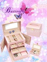 Sweet Pearly Pink Leatherette Jewellery Box~50%OFF!
