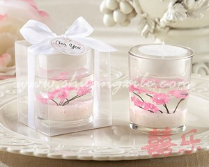 Cherry Blossom Gel Candle Favor