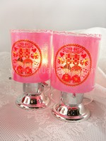 Prosperity Lamp - Small Pink Happy Couple