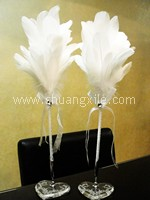 Natural Swan Feather Signature Pen Package