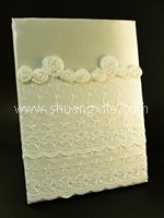 Elegant Lace Wedding Guestbook - White~30% OFF!
