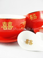 Dining Set - Premium Red Dragon Phoenix