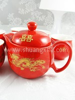 Teaset - Premium Red Dragon Phoenix