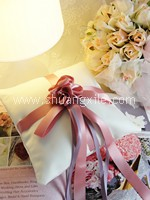 Love @ Pinkish Floral Special Collection Handmade Ring Pillow