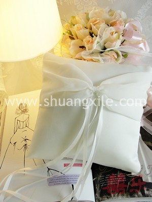 Love @ Romantic Chiffon Special Collection Handmade Ring Pillow