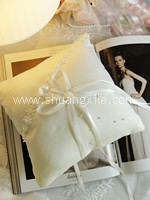 Love @ Classic White Floral Special Collection Handmade Ring Pillow