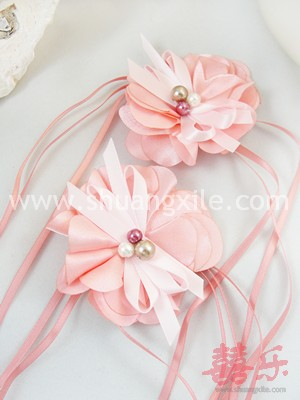 Pink Floral Wrist Corsages