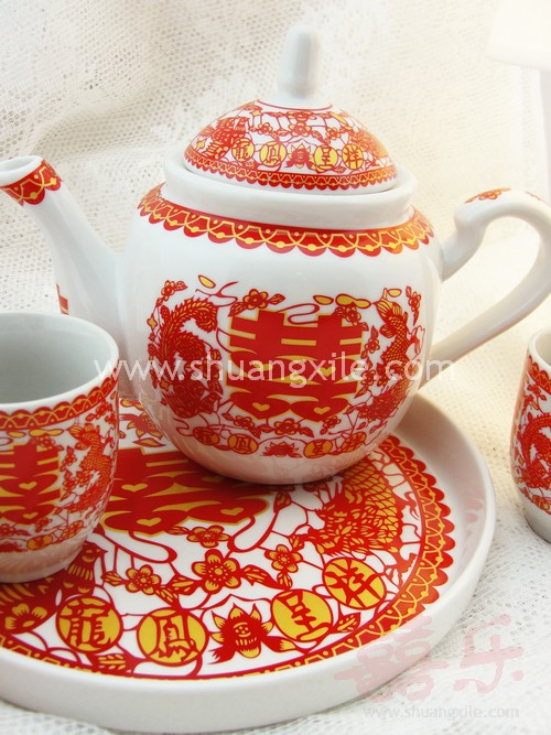 Dragon Phoenix Tea Set