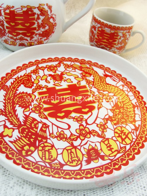 Dragon Phoenix Tea Set 02