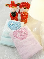Face Towel Set - Blue Pink  Husband Wife