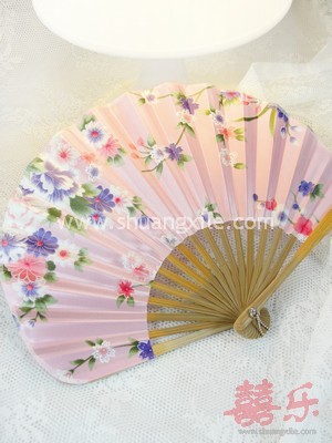 Japanese Silk Fan (Pink)