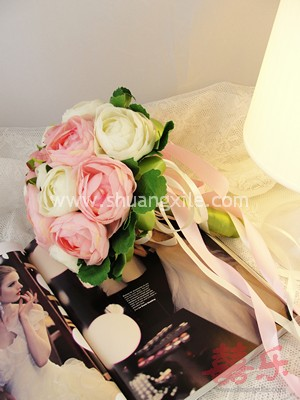 Perfect Wedding - Pink Camellia Bud Hand Bouquet~New!