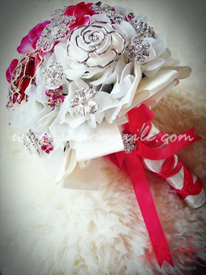 Ruby Crystal Jewellery Brooch Bouquet