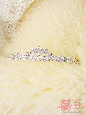 Simple Floral Crystal Tiara