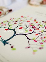 Love Tree Thumbprint Guestbook - Natural