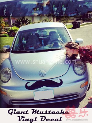 Giant Car Mustache Vinyl Decal