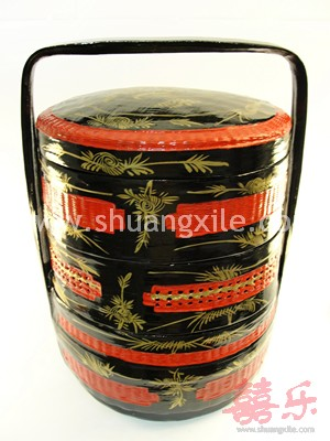 (Guo Da Li) Betrothal Basket Three Layers - Large