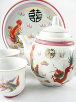 Teaset - Pearl Dragon Phoenix (Large)