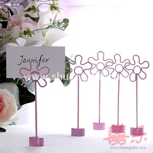 Floral Place Card Holder