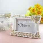 Heart Shaped Gold Diamond Photo Frame