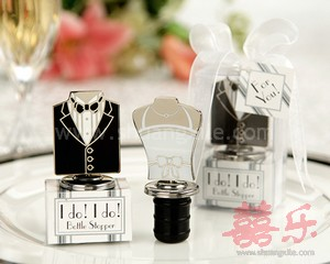 Brides & Groom Bottle Stopper