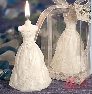 Wedding Gown Candle Set