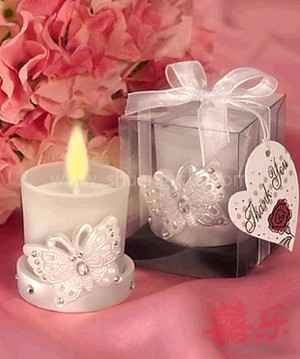Butterfly Frosted Candle Holder