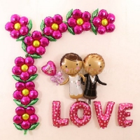 Bride & Groom Love Balloon Set