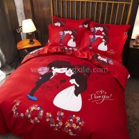 Love Kissing Couple Bedding Set