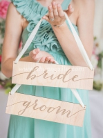 Bride and Groom Wooden Sign (Rental Fees: $15)