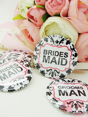 Grooms Man and Bridesmaid Badge