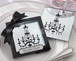 Chandelier Mirrored Glass Coaster Set