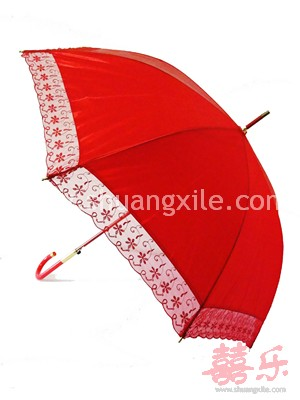 Red Umbrella (Floral Laced)~New!