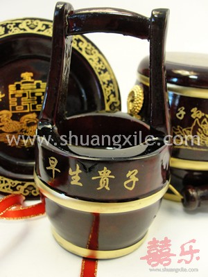 Mini Wooden Descendant Pail Set