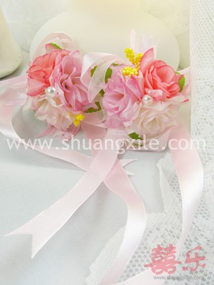 Sweet Pink Wrist Corsages