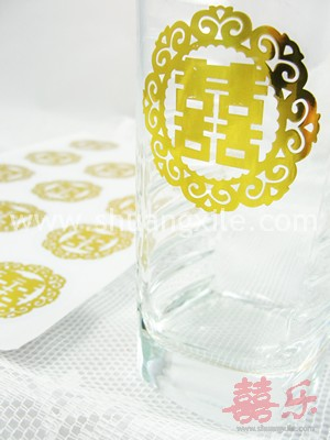 Oriental Sticker Gold