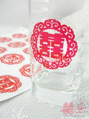 Oriental Sticker Red~back in stock!