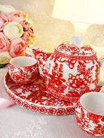 Teaset - Gold Red Happiness