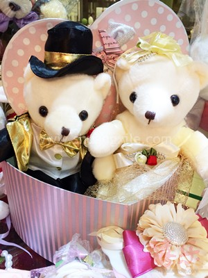 Gold Wedding Bear