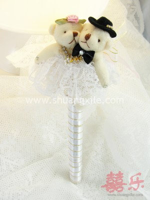 Gorgeous Wedding Bear Guestbook Pen