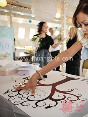 Our Wedding Tree Thumprint Guestbook