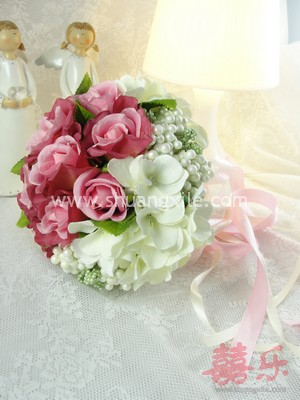 Pink Rose Bud Hand Bouquet