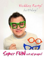 Fun Plastic Glasses Photo Props (4 in 1 set)~50%OFF