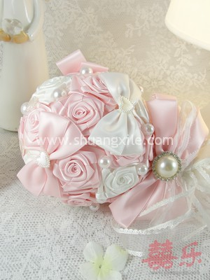 Sweet Pink Mini Fabric Bouquet