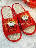 Traditional Happy Couple Slipper (Wife)