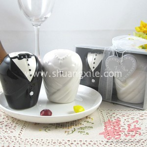 Bride & Groom Salt and Pepper Shakers