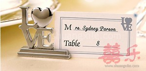 Love Silver Place Card Holder